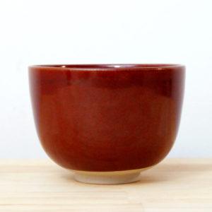 Bol en grès émaillé rouge de fer céramique contemporaine