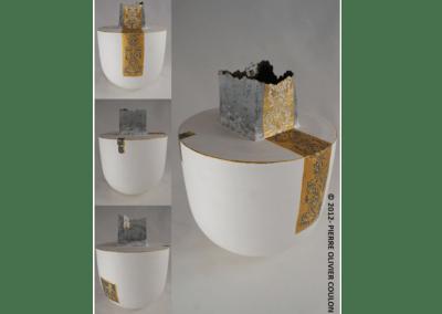 """Sculpture en céramique """"Baroque n roll"""" porcelaine engobée céramique d'art"""
