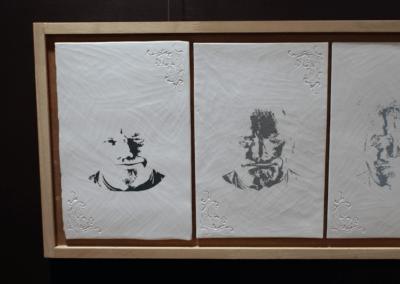 """Sculpture en céramique """"white Spirit"""" porcelaine engobée céramique contemporaine"""
