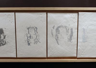 """Sculpture en céramique """"white Spirit"""" porcelaine engobée métiers d'art"""