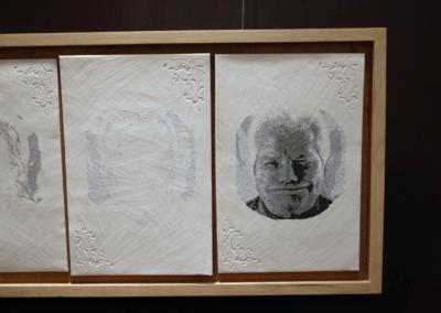 """Sculpture en céramique """"white Spirit"""" porcelaine engobée céramique d'art"""