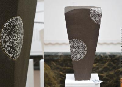 """Sculpture en céramique """"Chimère B"""" grès engobée céramique d'art"""