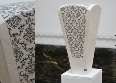 """Sculpture en céramique """"Chimère A"""" grès engobée céramique contemporaine"""