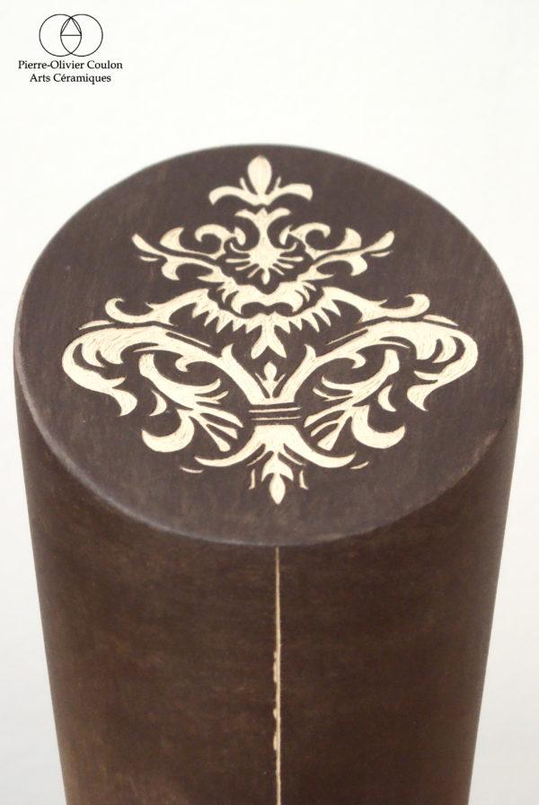 détail sculpture en céramique métiers d'art France