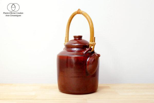 Théière en grès émaillé rouge de fer arts du thé
