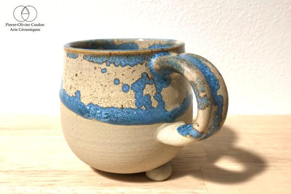 tasse avec anse émail cristallisé production artisanale