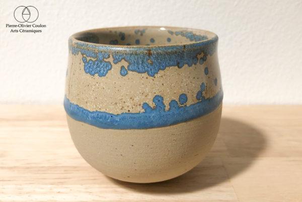 tasse grès émaillée cristaux poterie artisanale